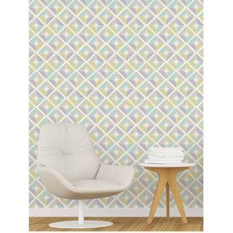 Echo Geometrique Papier Peint Pastels Coloroll M1301 Decors Et