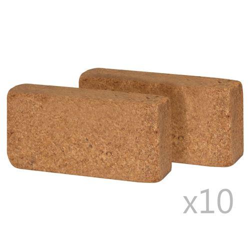 vidaXL Bloc de coco 20 pcs 650 g 20 x 10 x 4 cm