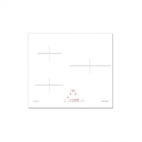 Airlux ATI632WHN - Table de cuisson à induction - 3 plaques de cuisson - Niche - largeur : 56 cm - profondeur : 49 cm - blanc - sans cadre - blanc pur