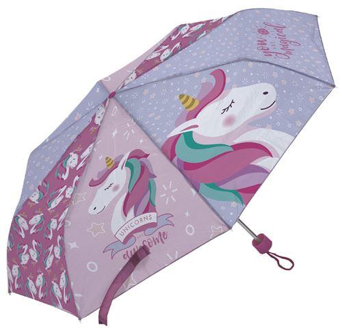 Arditex parapluie pour enfants Licorne 91 cm polyester rose clair