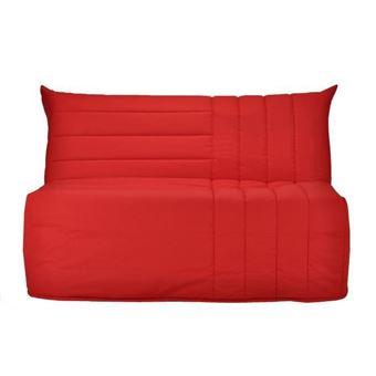meilleur service db5d2 74fdd BECCI Banquette BZ 2 places - Comfort BULTEX - L 142 x P 101 cm - Tissu  rouge
