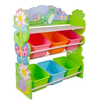 Etagère De Rangement Bois + Bacs Paniers Casiers Chambre Enfant Fille  TD 12245A   Rangement Enfant   Achat U0026 Prix   Fnac