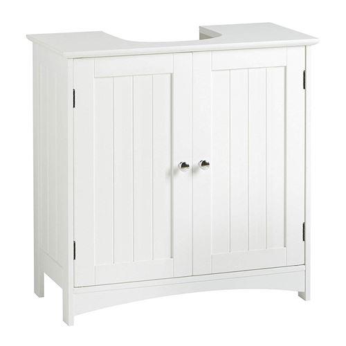 Armoires de Salle de Bain JEOBEST® Bas Meuble sous lavabo Avec séparateur amovible Anti-humidité