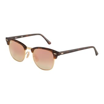 b9ea3dfdee5553 Ray-Ban Clubmaster Shiny Red Marron lunettes de soleil RB3016 990 7O -  Lunettes - Achat   prix   fnac