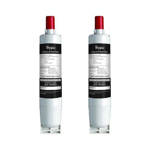 Lot de deux filtres a eau original whirlpool sbs002 pour refrigerateur americain - 2gdh143493
