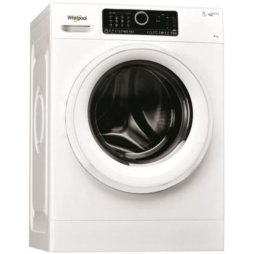 Whirlpool Supreme Care FSCR90499 - Machine à laver - indépendant - largeur : 59.5 cm - profondeur : 64 cm - hauteur : 85 cm - chargement frontal - 58 litres - 9 kg - 1351 tours/min - blanc