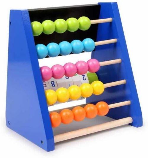 Boulier de calcul en bois bleu