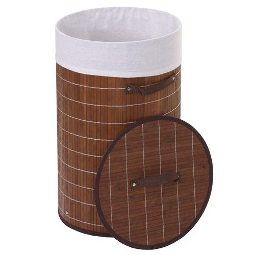 Corbeille à linge HWC-C21, 59x35cm, 50l ~ brun
