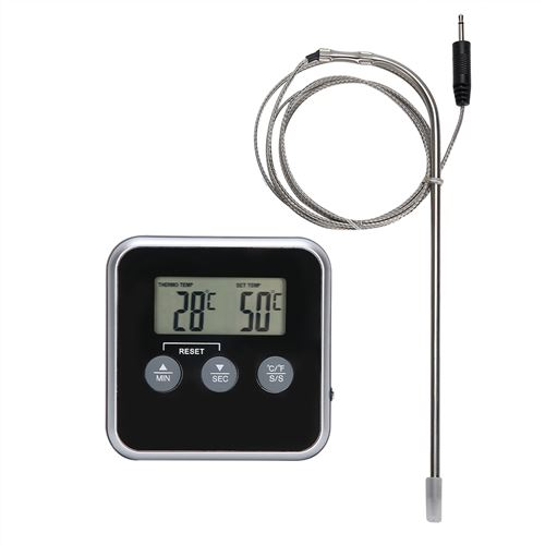 Thermomètre à Viande Numérique Sans Fil Alimentaire avec Minuterie de Cuisine