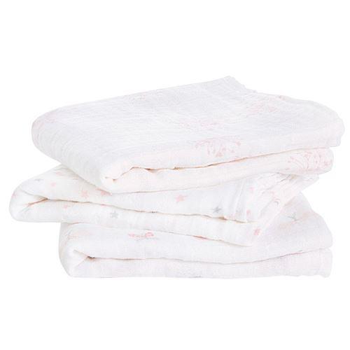 Lot de 3 petits Langes en mousseline de coton LOVELY RIVERIE - ADEN+ANAIS