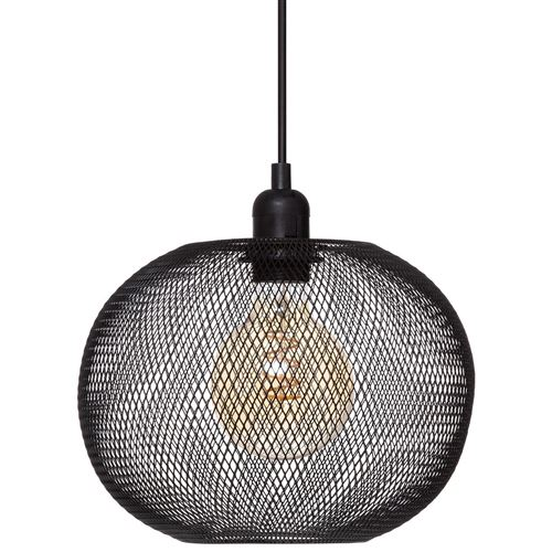 Suspension métal boule Emie noir D25