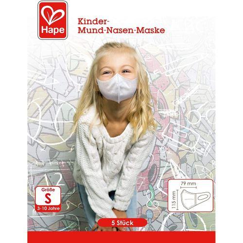 Hape Z9301 - Masque buccal et nasal pour enfants, 5 masques jetables