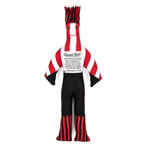 Dammit Doll Win The Intimidator - Black Red - Stress Relief - Gag Gift - Sports Teams