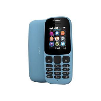 Nokia 105 - Mobiele telefoon - dual-SIM - GSM - 160 x 120 pixels - TFT - RAM 4 MB - Nokia Series 30+ - blauw
