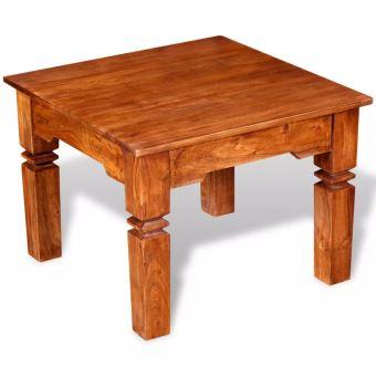 Kkmoon Table Basse Bois Table Basse Salon Table Dappoint Table Basse Chinois En Bois Massif 60 X 60 X 45 Cm