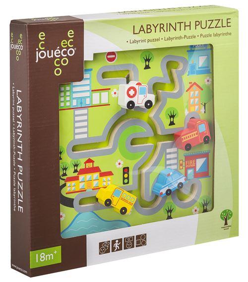 Joueco - Puzzle Labyrinthe Ville / Ferme