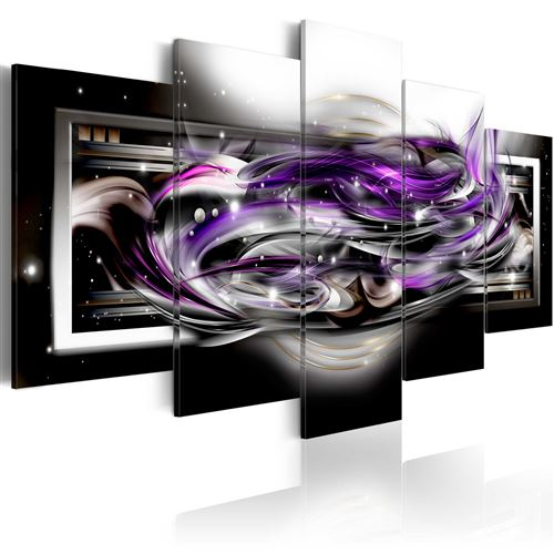 Tableau | Purple smoke | 100x50 | Abstraction |
