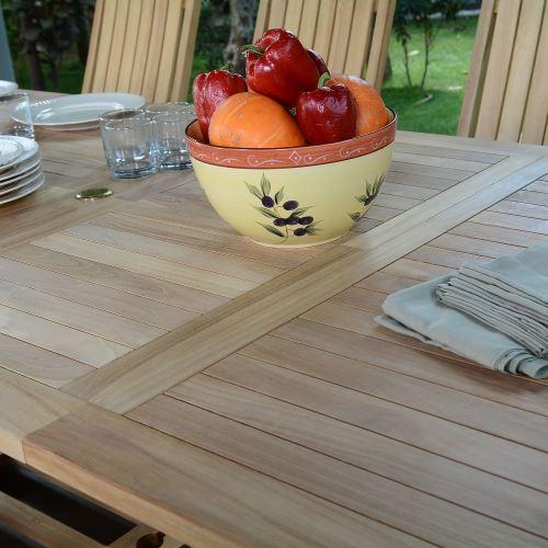 Salon de jardin en teck qualité ecograde bornéo, 10/12 places ...