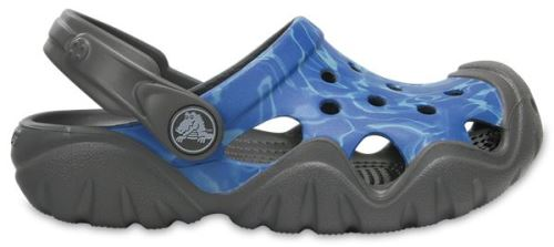 Crocs enfants swiftwater graphic sabots <strong>chaussures</strong> sandales en bleu 204451 90n