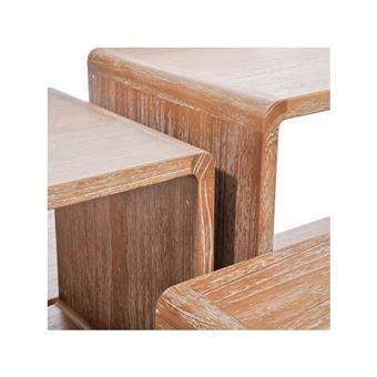 Set De 5 Tables Gigognes Bois Naturel Girolle Achat Prix Fnac