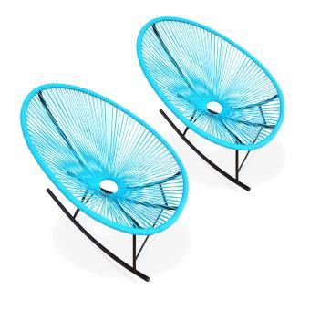 2 fauteuils bascule acapulco rocking turquoise alice 39 s garden mobilier de jardin achat. Black Bedroom Furniture Sets. Home Design Ideas