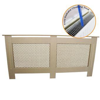 Cache radiateur en mdf naturel de 172cm de large accessoires chauffage et chaudi re achat - Cache radiateur maison ...