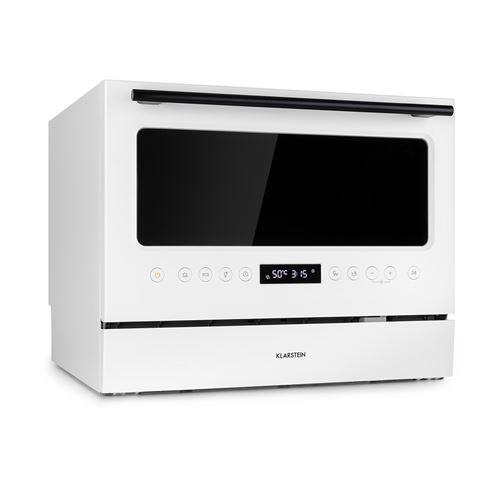 Klarstein Azuria Lave-vaisselle compact 6 couverts - 7 programmes de lavage - Pose libre - Porte vitrée - Classe A+ - Blanc