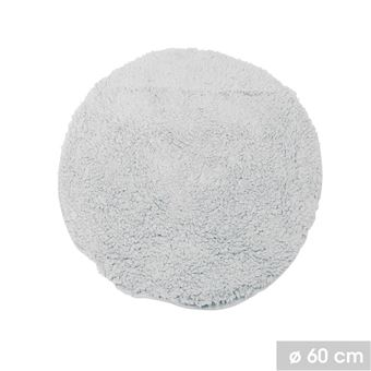Tapis de salle de bain rond moelleux Bolbo - Diam. 60 cm ...