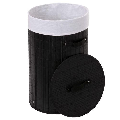 Corbeille à linge HWC-C21, 59x35cm, 50l ~ noir