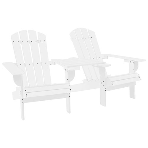 vidaXL Chaise de jardin Adirondack Bois de sapin massif Blanc