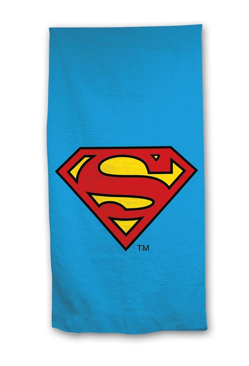 Marvel serviette de plage Superman 140 x 70 cm bleu