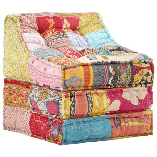 Chunhe Pouf modulaire Patchwork Tissu AB287712