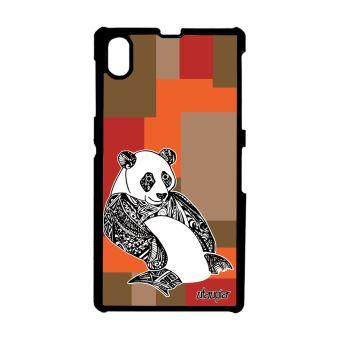 Coque Sony Xperia Z1 Panda Swag Dessin Fantaisie Cube Tribal