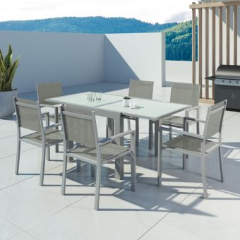 Avril Paris - HARA - Table de jardin extensible aluminium 90 ...