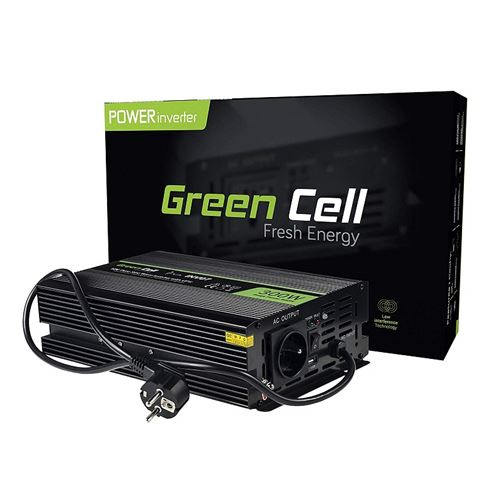 Green Cell® 300W/600W Pur Sinus Convertisseur de Tension DC 12V AC 220V/230V UPS Inverter, Peak Onduleur Transformateur poêles de Chauffage Central