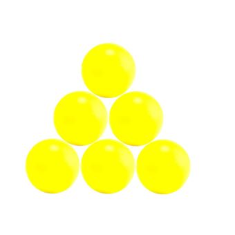 4 Balles babyfoot jaunes type compétition