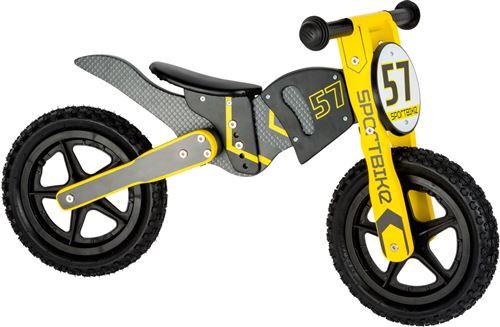 Draisienne motocross gris et jaune - 10739