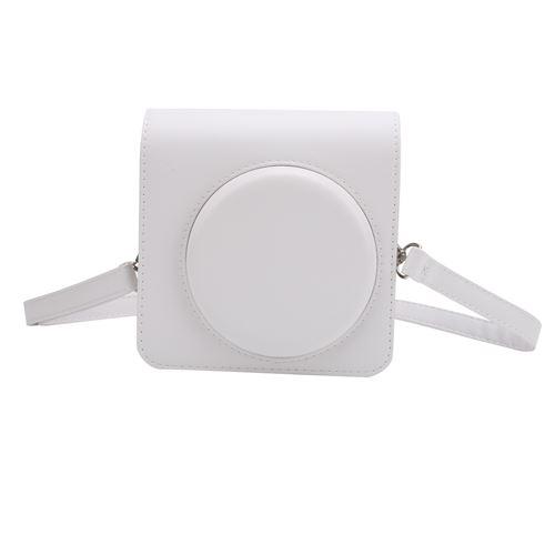 Étui de protection en Cuir PU pour Instax SQUARE SQ1 - Blanc