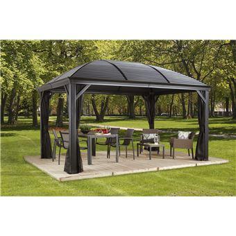 tonnelle pergola aluminium moreno 3 x 4 x 2 83m mobilier. Black Bedroom Furniture Sets. Home Design Ideas