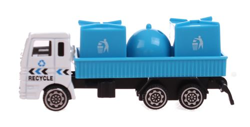 Free and Easy camion de recyclage bleu 11 cm
