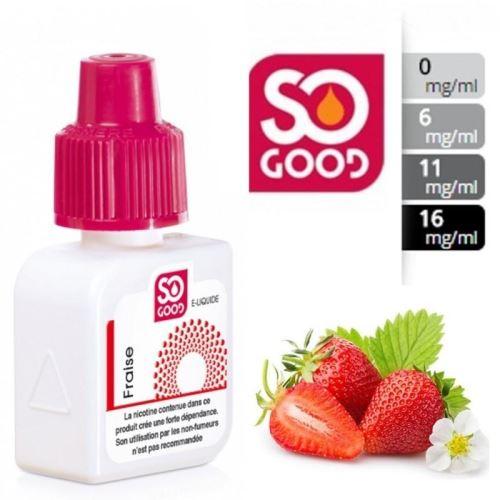 E-Liquide Fraise 0 mg/l - SO GOOD 10 ml