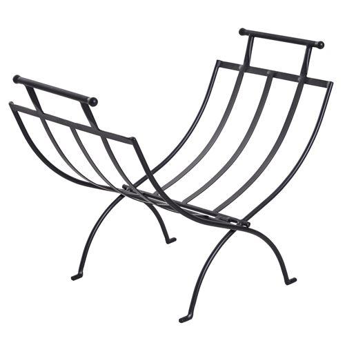 Range-bûches rack à bûches design contemporain 60L x 35l x 45H cm pliable métal noir