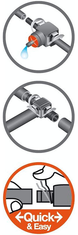 Gardena Dérivation en T pour Buse de pulvérisation Micro-Drip-System Noir/Argent 35 x 20 x 19 cm 08332-20