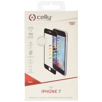 Celly Glass Antiblueray Film de Protection d'écran pour iPhone 7 Noir
