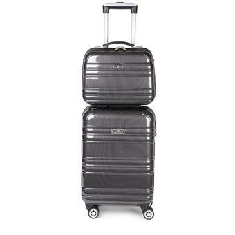 meilleur service e1ec8 16148 Lot de valise cabine rigide 55 cm et son vanity