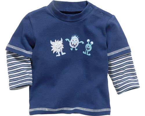 Schnizler T-shirt manches longues Small Monsters boys marine