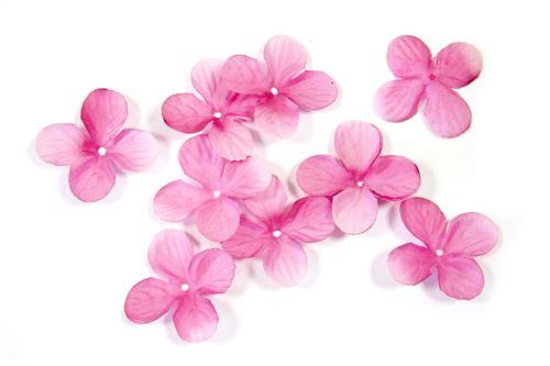 Lot de 240 pétales de fleurs en tissu Fuschia - 3 cm