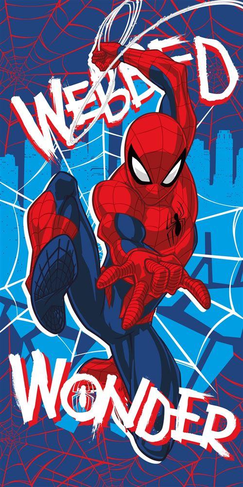 Marvel Serviette de bain Spider-Man bleu 70 x 140 cm