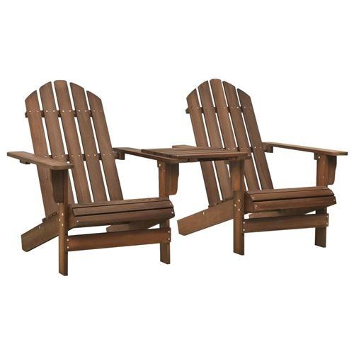 vidaXL Chaise de jardin Adirondack Bois de sapin massif Marron