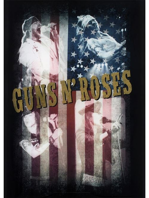 Drapeau Guns N' Roses Collage 77 x 105 cm